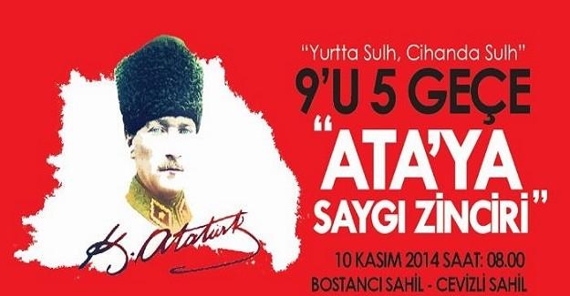 İstanbul'da Ata'ya Saygı Zinciri