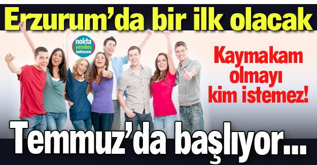Erzurum'da bir ilk olacak!