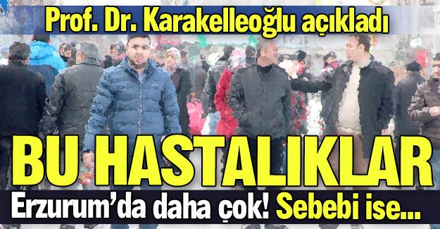 Bu hastalıklar Erzurum'da daha çok!
