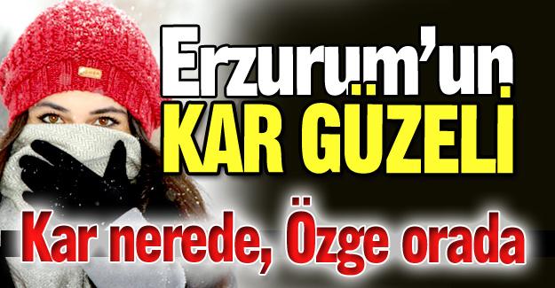 Erzurum'un kar güzeli