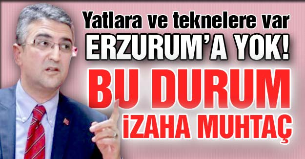 Erzurum'a niye yok?