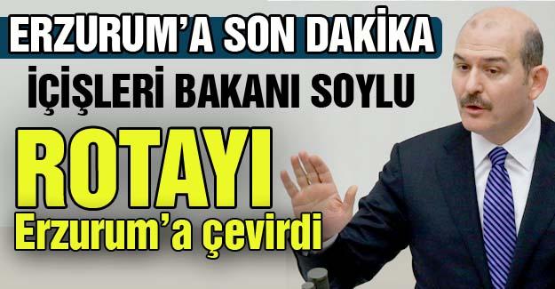 Rotayı Erzurum'a çevirdi