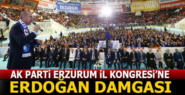 AK Parti kongresine Erdoğan damgası