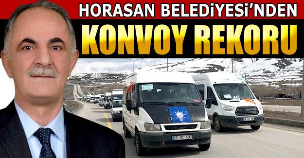 Horasan Belediyesi'nden konvoy rekoru