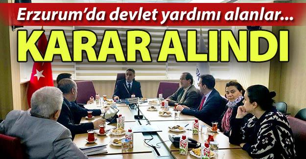 Erzurum'da devlet yardımı alanlar...