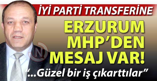 Erzurum MHP'den mesaj var!..