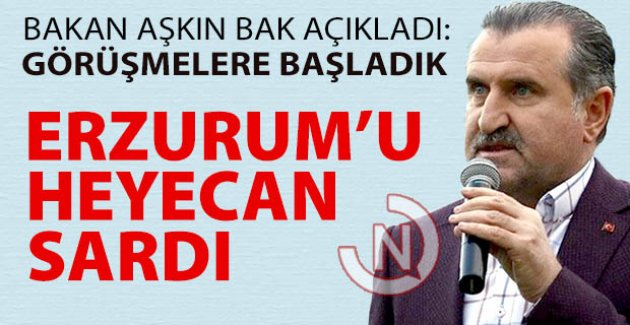 Erzurum'u heyecan sardı
