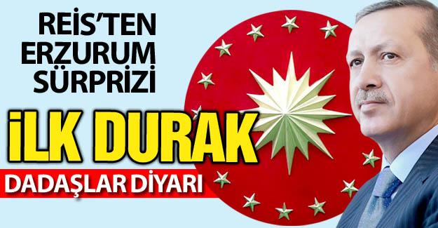 Erdoğan'dan Erzurum sürprizi