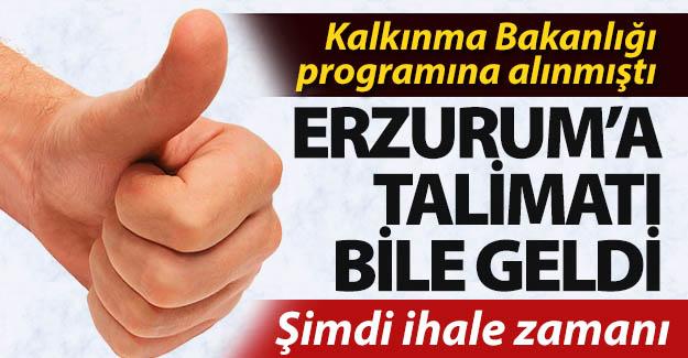 Erzurum'a anında müjdesi geldi!..