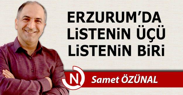 Erzurum'da listenin üçü, listenin biri!..