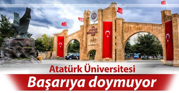 Atatürk üniversitesi başarıya doymuyor