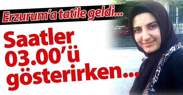 Erzurum'a tatile gelmişti!..