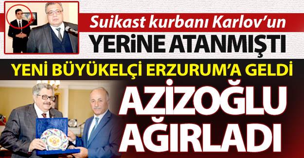 Rus Büyükelçi Yerhov Erzurum'da...