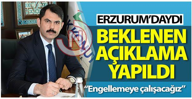 Beklenen açıklamayı Erzurum'da yaptı!..