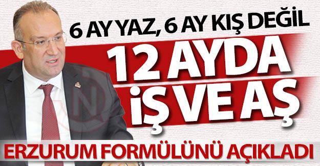 Başkan Tanrıver'den Erzurum formülü