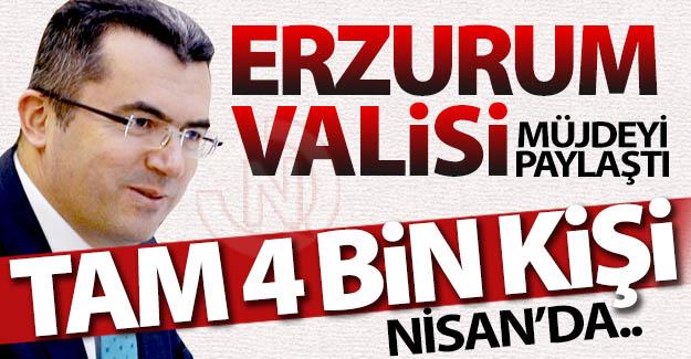 Erzurum Valisi'nden bomba gibi haber!