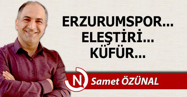 Erzurumspor... Eleştiri... Küfür...