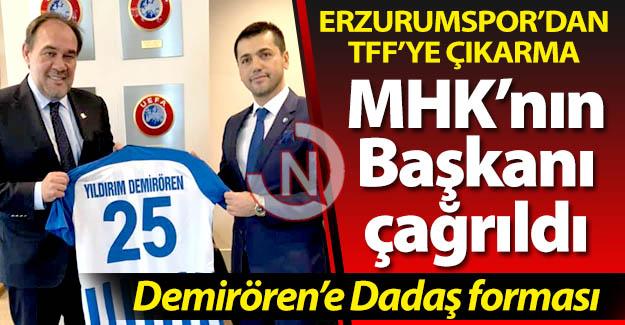 Erzurumspor'dan TFF'ye çıkarma!
