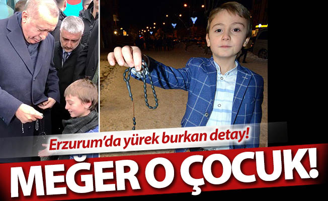 Erzurum'da yürek burkan detay!
