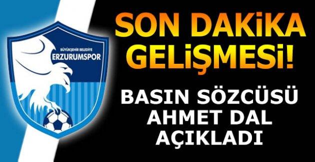 Erzurumspor'da sıcak gelişme!