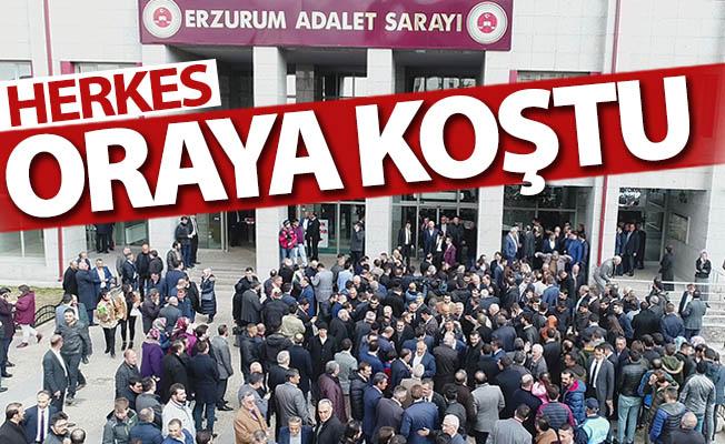 Erzurum'da herkes oraya koştu!