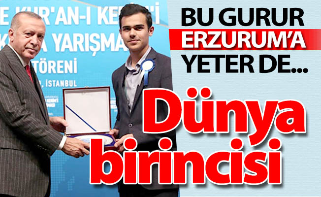 Dünya birinciliği Erzurum'un!..