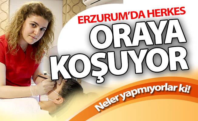 Erzurum'da neler yapmıyorlar ki!