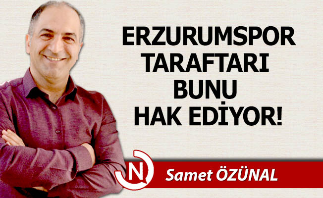 Erzurumspor taraftarı bunu hak ediyor!