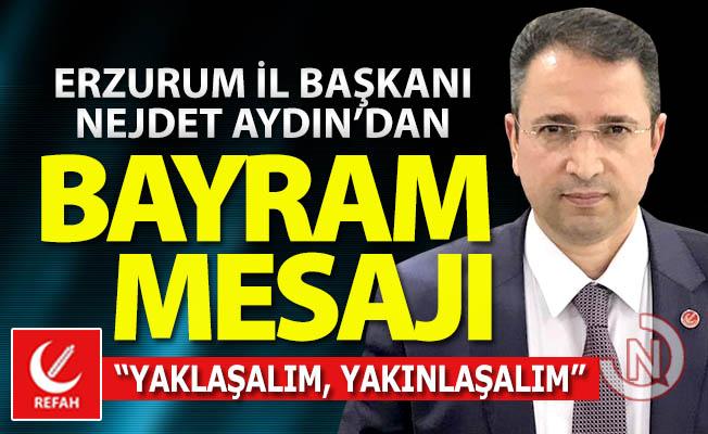 Başkan Aydın'dan bayram mesajı