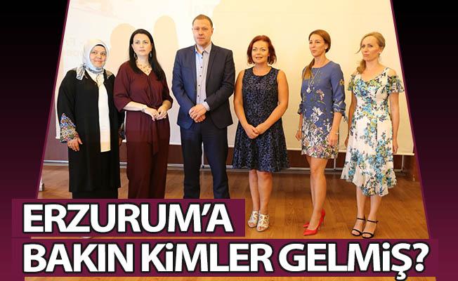 Erzurum'a bakın kimler gelmiş?