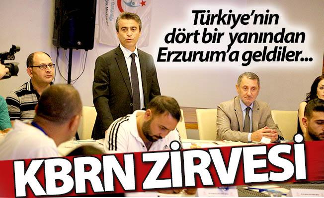 Erzurum'da KBRN zirvesi