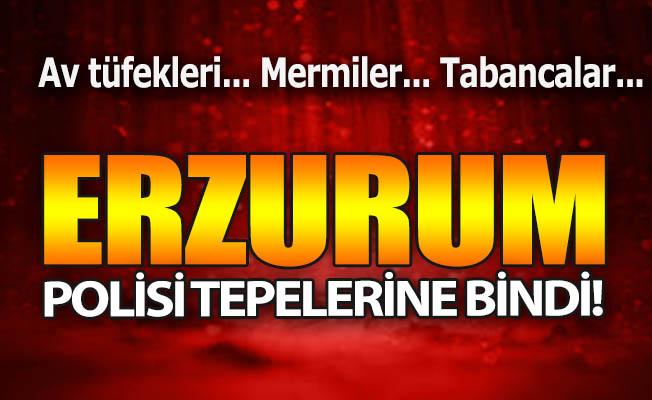 Erzurum polisi tepelerine bindi!