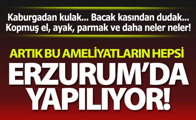 Bu ameliyatlar artık Erzurum'da yapılıyor!