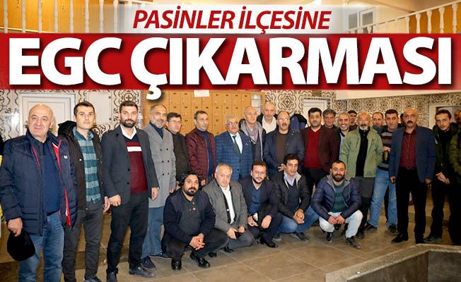 Gazeteciler Pasinler'e çıkarma yaptı