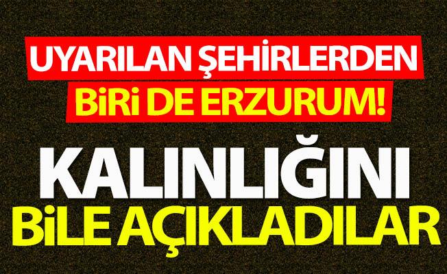 O şehirlerden birisi de Erzurum!