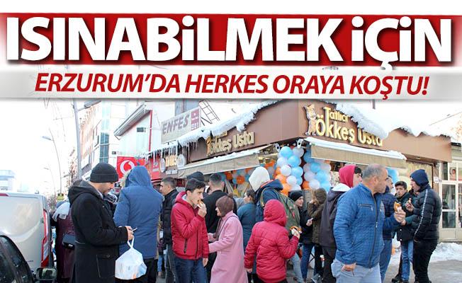 Erzurum'da şimdi ısınma zamanı!