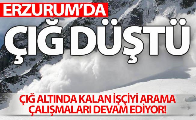 Erzurum'da çığ düştü!