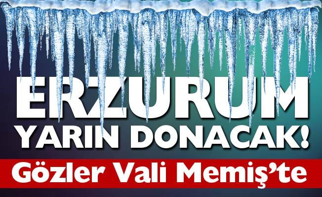 Erzurum'da gözler Vali Memiş'te