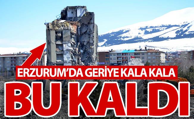 Erzurum'da geriye bu kaldı!