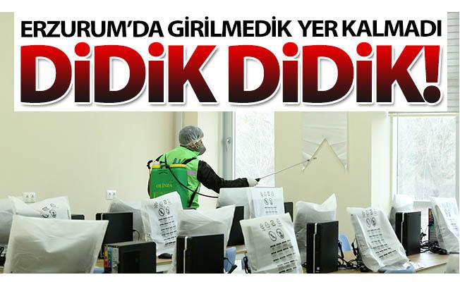 Erzurum'da girilmedik yer kalmadı!