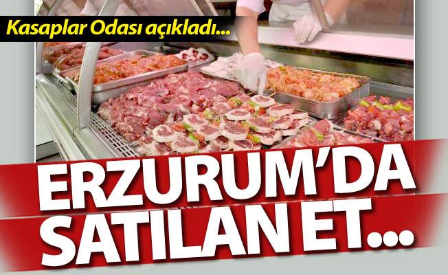 Erzurum'da satılan et...