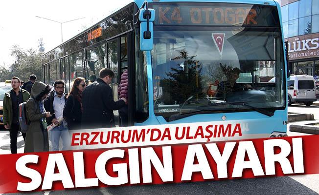 Erzurum'da ulaşıma salgın ayarı