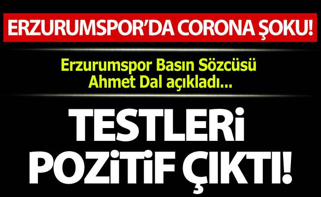 Erzurumspor'da Corona şoku!