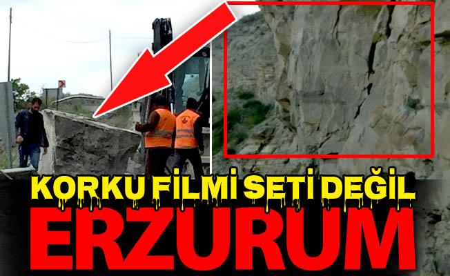 İşte Erzurum'daki ecel geçidi!