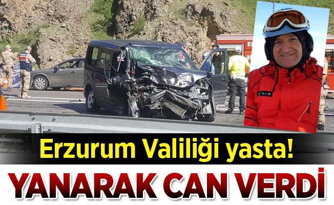 Erzurum Valiliği yasta!