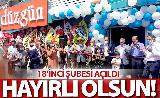 Düzgün Market'in 18'inci şubesi açıldı