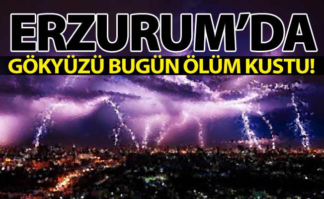 Erzurum'da gökyüzü ölüm kustu!