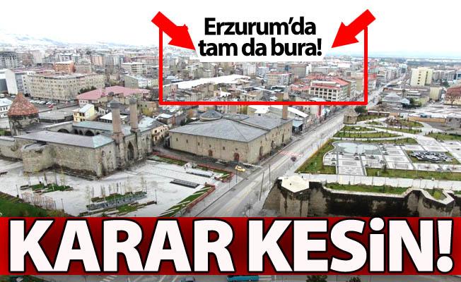 Erzurum'da işte tam da burası!