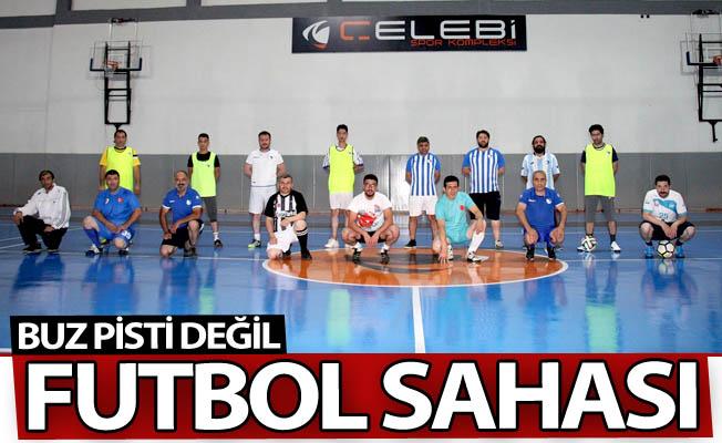 Erzurum'da yok böyle bir futbol keyfi!