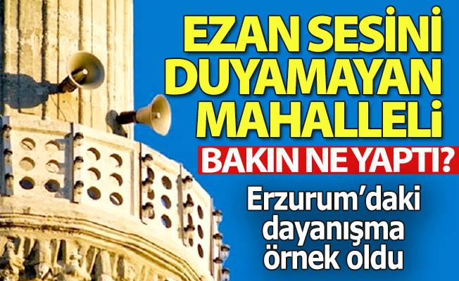 Erzurum'da yok böyle bir dayanışma!